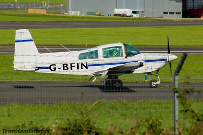 G-BFIN Grumman American AA-5A Cheetah Aircraft Engineers Ltd Prestwick Airport 04/09/2016