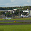 PX-K<br> de Havilland DH115 Vampire FB.52<br> PX-M<br> de Havilland DH115 Vampire T.55<br> Norwegian Air Force Historical Squadron<br> Prestwick Airport<br> 04/09/2016<br>