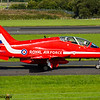 XX278<br> British Aerospace Hawk T1a<br> Red Arrows<br> Royal Air Force<br> Prestwick Airport<br> 04/09/2016<br>