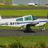 G-BFIN<br /> Grumman American AA-5A Cheetah<br /> Aircraft Engineers Ltd<br /> Prestwick Airport<br /> 04/09/2016