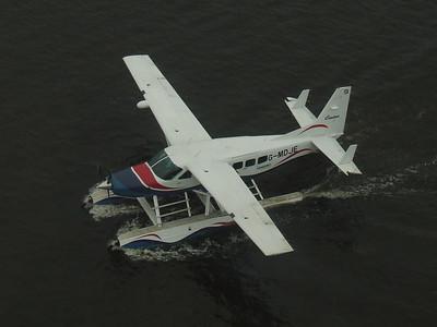 G-MDJE A Loch Lomond Seaplanes Cessna 208 Caravan Amphibian at Glasgow SECC Sea Plane base