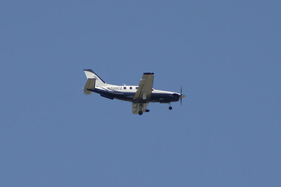 N700CZ A Socata TBM-700C of Mild Air LLC on approach to Glasgow Airport