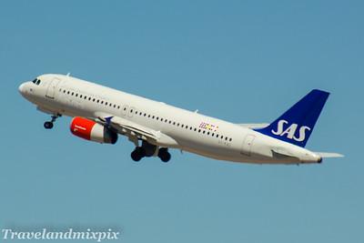 OY-KAU SAS Scandinavian Airlines Airbus A320-232 Palma de Mallorca Airport 04/07/2017
