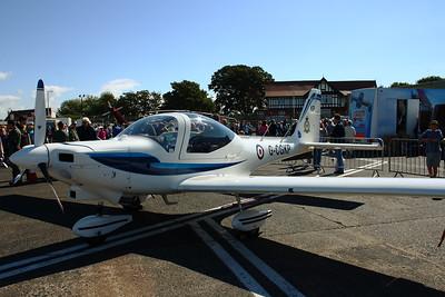 G-CGKP RAF, 3 Flight Training School Grob Tutor T.1 Scottish Airshow Prestwick Airport 07/09/2014 Aircraft owned by VT Aerospace Ltd.