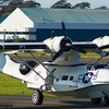 G-PBYA<br> Canadian Vickers Canso A (Consolidated PBY-5A Catalina)<br> Plain Sailing<br> Scottish Airshow<br> Prestwick Airport<br> 06/09/2015<br> <i>Canadian Vickers Canso A (G-PBYA). It is a licence built version of the Consolidated PBY-5A Catalina used by the Royal Canadian Air Force during World War 2. After the war it was used for transport purposes and for fire fighting, It is now owned by Plain Sailings Air Display. The aircraft is painted in the colour scheme of USAAF OA-10A Catalina 44-33915 of the 8th Air Force 5th Emergency Rescue Squadron at Halesworth, Suffolk.</i>