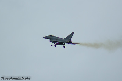 ZK352 Eurofighter Typhoon FGR.4 Royal Air Force 29 Squadron Ayr 03/09/2016 Eurofighter Typhoon of 29 Squadron. It is the display Typhoon for the RAF Typhoon Display Team, piloted by Flt Lt Mark Long, performing it's display on the Saturday.