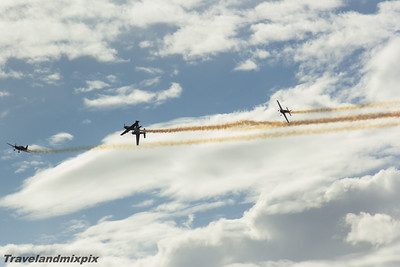 Extra 300L The Blades Ayr 02/09/2016 The Blades display team taking part in their trademark display at the Scottish International Airshow, all piloted by ex Red Arrows pilots