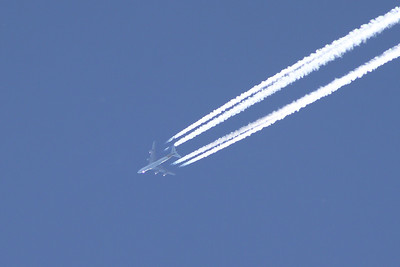 9V-SFP Boeing 747-412F (SCD) of Singapore Airlines Cargo flying at 37000 feet on a service from Dallas to Brussels