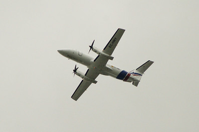 EC-HMY A Swiftair Embraer EMB-120RT(F) Brasilia after take off from Glasgow Airport