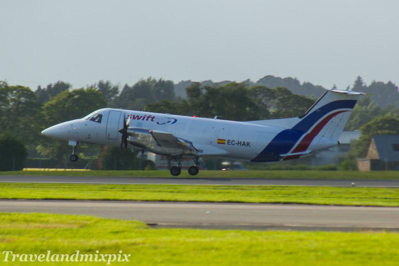 EC-HAK<br /> Swiftair <br /> Embraer EMB-120FC Brasilia <br /> Glasgow Airport <br /> 26/07/2017