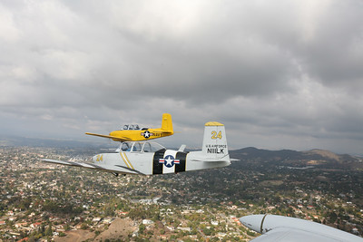 Vista, CA - T-34a Mentor Flight/Vista Holiday Flyby. Pilot Rich Martindell. Photographer: Cameron Martindell 5 December 2009