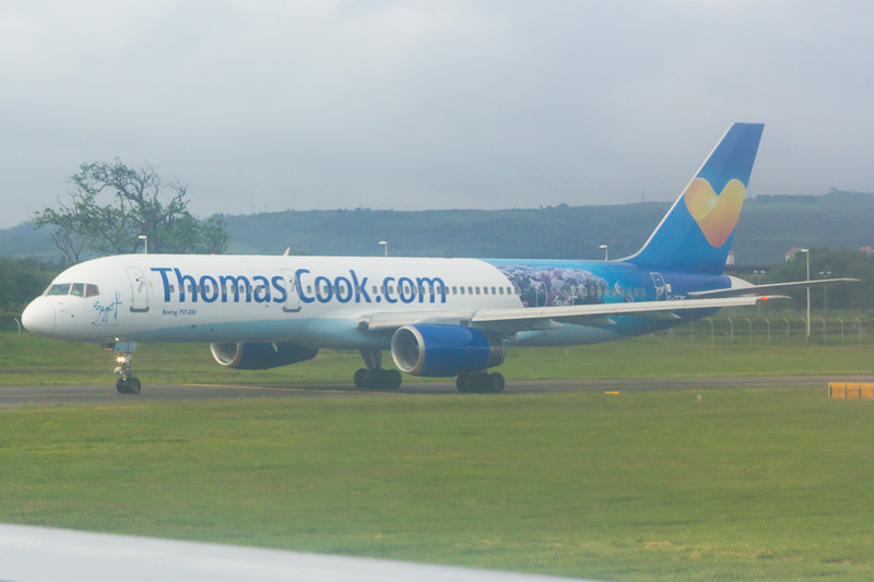 G-TCBC<br> Thomas Cook Airlines<br> Boeing 757-236<br> Glasgow Airport<br> 21/06/2015<br> Wears <i>Egypt, Where It All Begins</i> livery.<br> Withdrawn October 2015