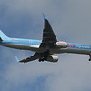 Thomsonfly Boeing 757-204 (G-BYAX) on approach to Glasgow Airport, now with new winglets. This was one of the Thomson aircraft that had Britannia Airways livery. It passed to Thomson Airways before being withdrawn in March 2014.