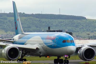 G-TUIA Thomson Airways Boeing 787-8 Glasgow Airport 24/06/2017