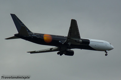 G-POWD Titan Airways Boeing 767-36N Glasgow Airport 17/06/2016 Operating a service on behalf of British Airways