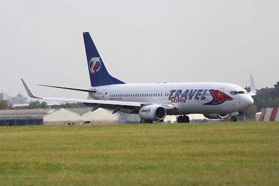 OK-TVT Travel Service Boeing 737-86N Glasgow Airport 03/09/2014