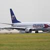 OK-TVT<br /> Travel Service<br /> Boeing 737-86N<br /> Glasgow Airport<br /> 03/09/2014