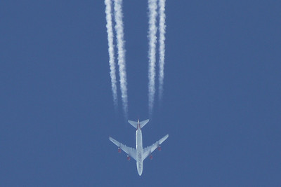 G-VBIG Boeing 747-48Q of Virgin Atlantic Airways cruising at 32,000 feet on a flight to San Francisco from Heathrow