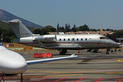 9H-VFB VistaJet Malta Bombardier CL-600-2B16 Challenger 605 Malaga Airport 27/06/2015