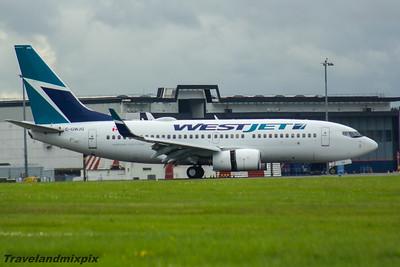 C-GWJG WestJet Airlines Boeing 737-7CT Glasgow Airport 26/07/2016