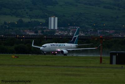 C-FWSK WestJet Airlines Boeing 737-7CT Glasgow Airport 04/07/2015