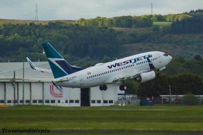 C-GQWJ WestJet Airlines Boeing 737-7CT Glasgow Airport 22/05/2016