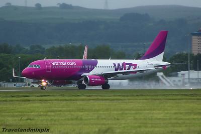 HA-LPJ Wizz Air Airbus A320-232 Glasgow Airport 04/07/2015