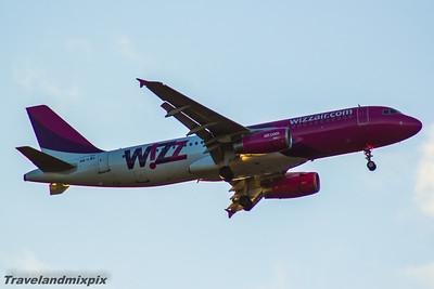 HA-LWA Wizz Air Airbus A320-232 Glasgow Airport 25/04/2016