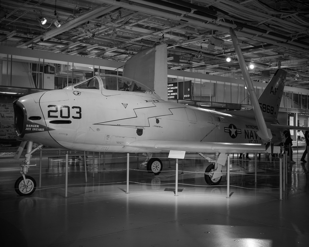 North American FJ-3 Fury Aircraft Carrier Intrepid - Hanger Deck