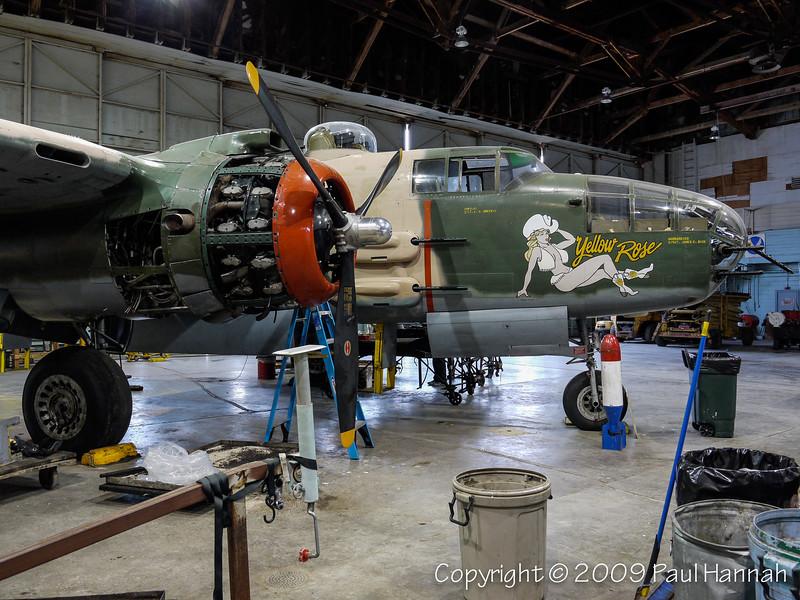 "B-25J CAF Mitchell SN 43-27868 Construction #108-34881 Civil Registration: N25YR ""Yellow Rose"" in San Marcos, TX"