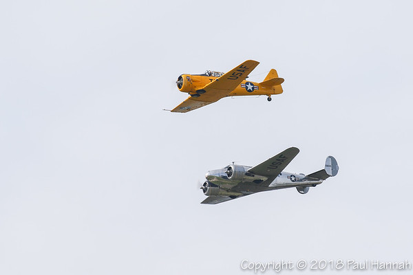 Lucid Thought Consulting T-6G N66TY & Vintage Wings Aircraft LLC 1942 Beech C-45H N213DE