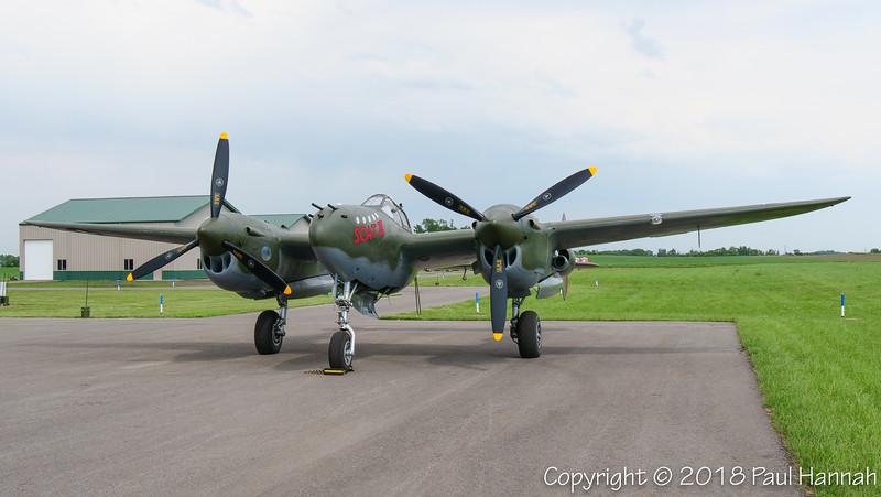 """Fagen Fighters 1945 Lockheed P-38L Lightning """"Scat III"""" (SN 422-8235)  N79123"""