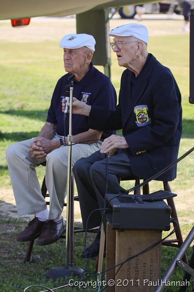 Doolittle Raiders - Richard E Cole & Thomas C Griffin at MAM Airshow 2011
