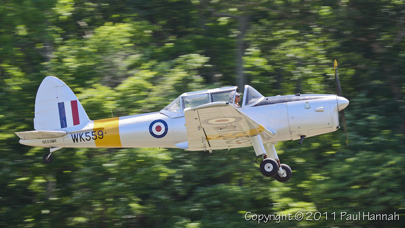 1952 de Havilland Chipmunk DHC-1T10 N559WK Takeoff
