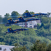 May 13,2016 - Chesterfield - MO, USA. US Navy Demonstration Blue Angels flying Spirit Air Show 2016 Practice  at  Spirit of St Louis Airport