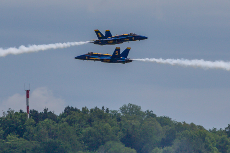 May 12,2016 - Chesterfield - MO, USA. US Navy Demonstration Blue Angels flying Spirit Air Show 2016 Practice  at  Spirit of St Louis Airport