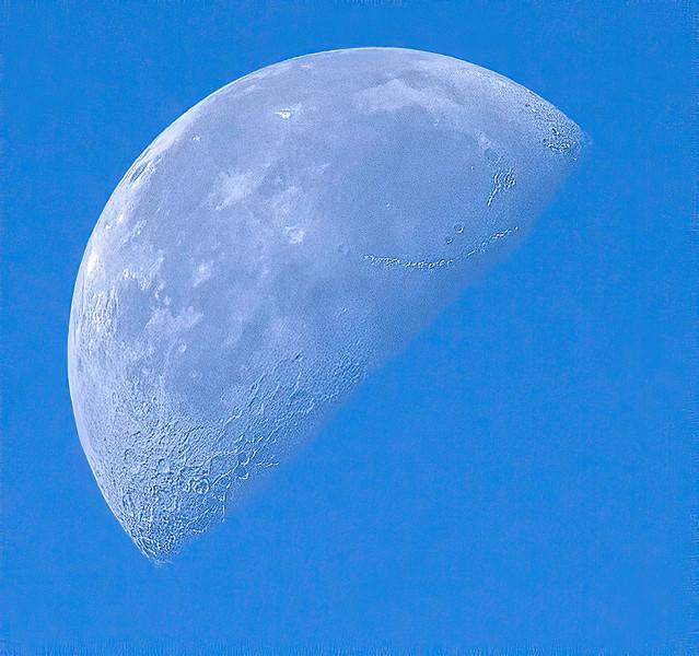 Moon at 10:23AM, hand-held.