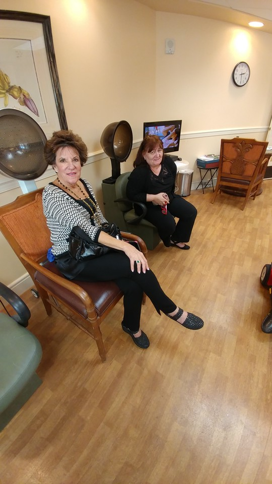 Janet Killam and Rodica in the salon