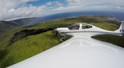 Departing Kalaupapa on the north shore of Molokai.