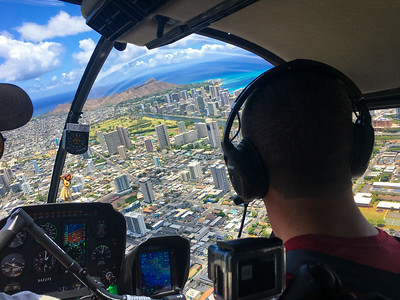 R-44 Training over Waikiki.