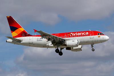 Avianca (Colombia) Airbus A318-111 N595EL (msn 2394) MIA (Luimer Cordero). Image: 908066.