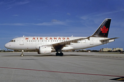 Air Canada Airbus A319-114 C-FZUJ (msn 719) MIA (Bruce Drum). Image: 102539.