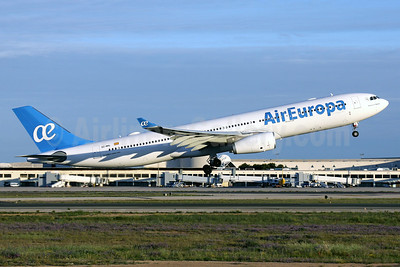 The first Air Europa Airbus A330 in the new livery
