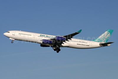 BWIA West Indies Airbus A340-311 9Y-JIL (msn 016) LHR (Antony J. Best). Image: 935275.