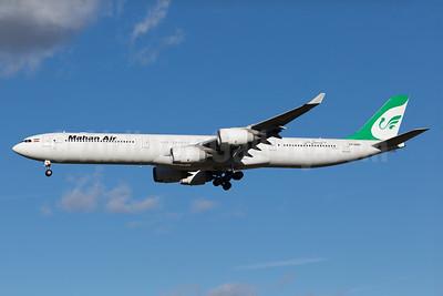 Mahan Air Airbus A340-642 EP-MMH (msn 391) MUC (Arnd Wolf). Image: 930053.