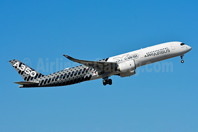 Airbus A350-941 F-WWCF (msn 002) (Carbon Fiber livery) TLS (Paul Bannwarth). Image: 928570.