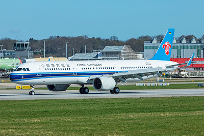 China Southern Airlines Airbus A321-253N B-303L D-AYAQ 4-1-19