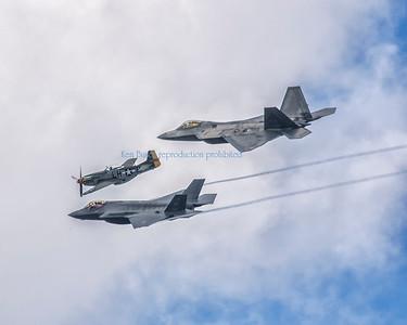 2016 Cleveland Air Show F22 F35 P51  1407