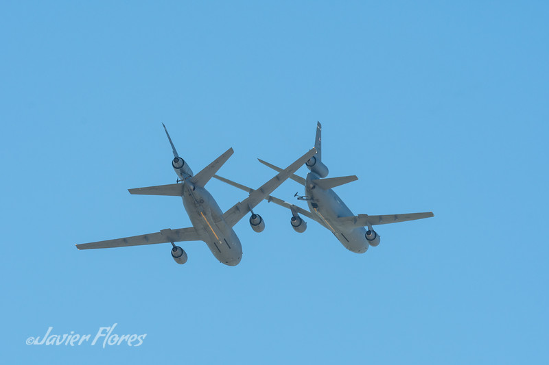 Two Kc10 in Flight