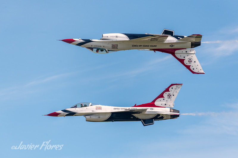 F-16 Thunderbird Two Opposing Solo